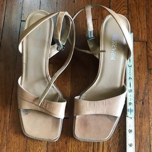 Brown shoe Kenneth Cole wedges leather sandal